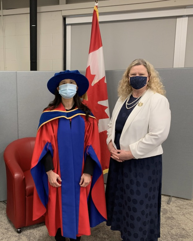COVID NO.1 FIGHTER RECEIVED HONOR FROM SFU